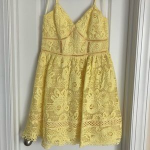 Aqua brand yellow lace dress